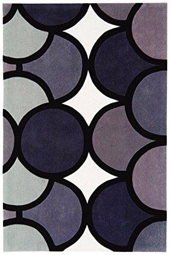 Teppich Wohnzimmer Carpet modernes Design HARLEQUIN BUBLE GEOMETRIE RUG 100% Acryl 120x180 cm Rechteckig Grau | Teppiche günstig online kaufen https://www.amazon.de/dp/B017KNAZRM?th=1