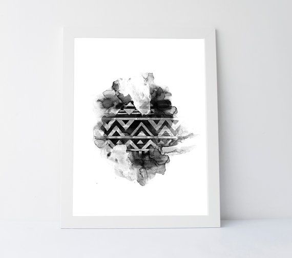Abstract black white print abstract by PrintableGiftIdeas on Etsy