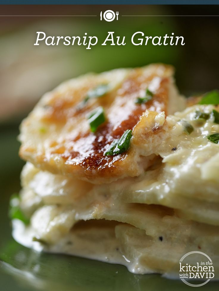 Mmm! Parsnip Au Gratin on the side! #recipe