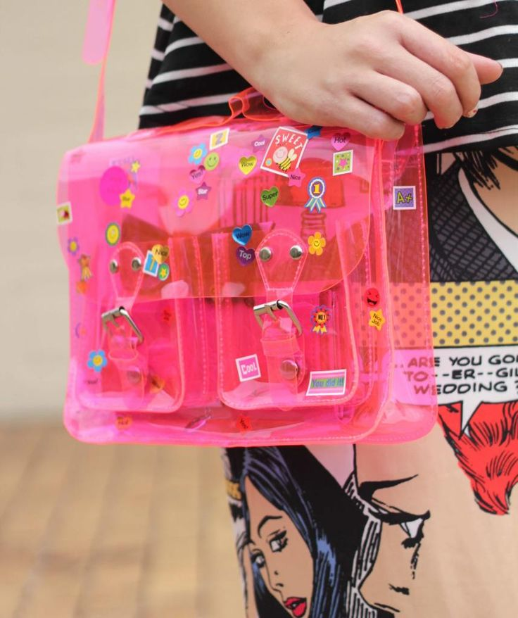 DIY Sticker bag - in neon pink!