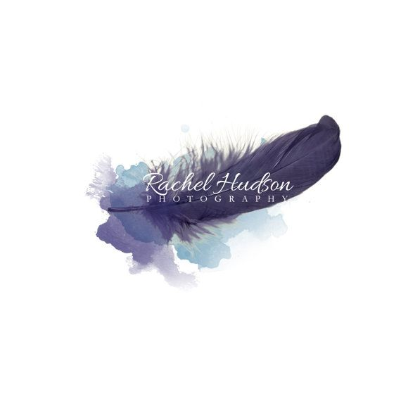 INSTANT DOWNLOAD logo. Feather logo. photography by DesignRescue