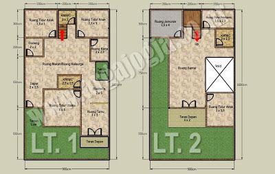 Denah Rumah Modern 4 Kamar - Rumah Minimalis