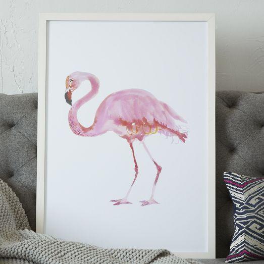 Framed Bird Wall Art – Flamingo   West Elm