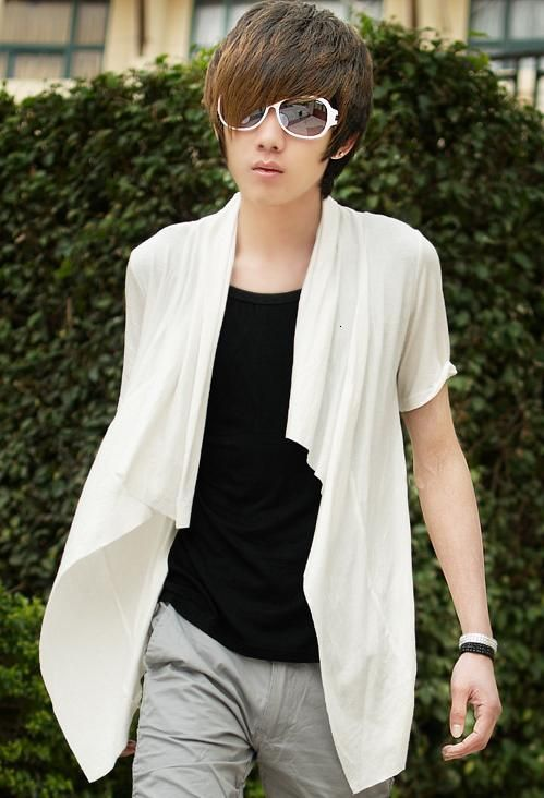 New summer cool fashion cultivating Korean male short-sleeved T- - $42.59  Goodinthebox.com ...