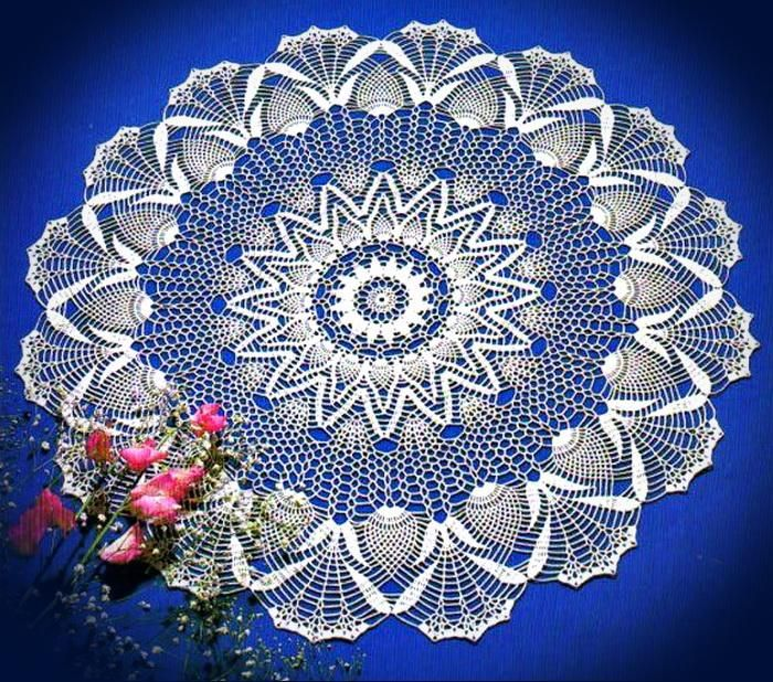 Crochet Lace Tablecloth - Pineapple Crochet Lace                                                                                                                                                     More