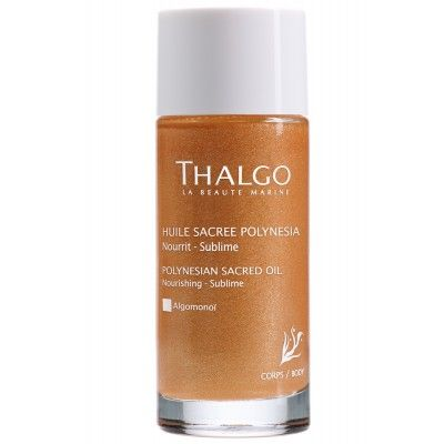 Thalgo Polynesian Sacred Oil is for those looking to hydrate and nourish their body and hair while leaving a subtle golden iridescent finish...