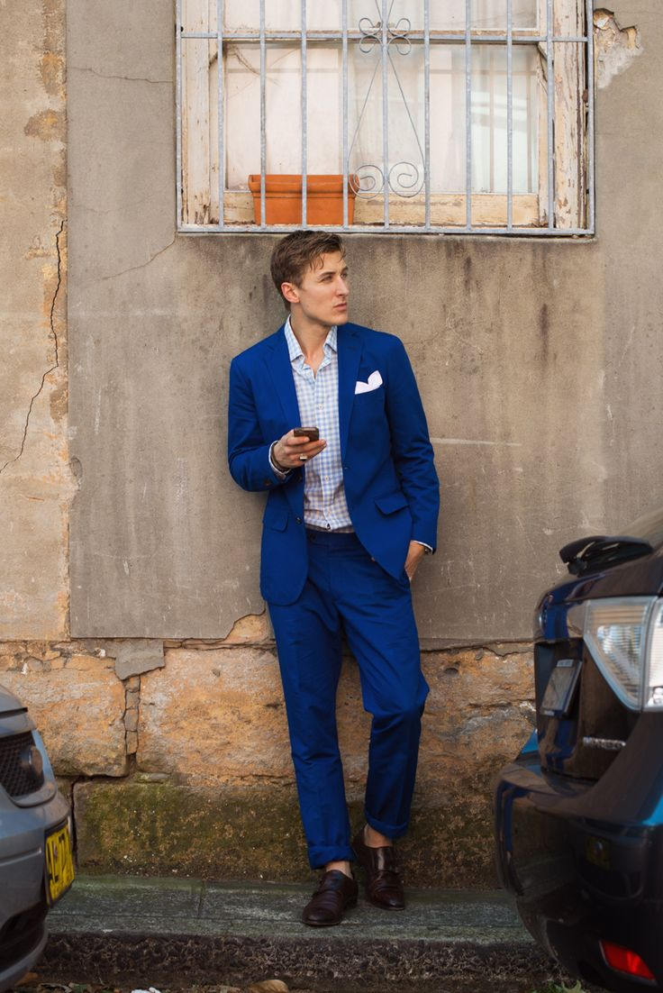 With summer fast approaching, our lightweight cotton Oberon Suit is the perfect solution to keeping you cool.    Shop the look at www.mjbale.com     Shot by Giusseppe Santamaria, Men In This Town Blog