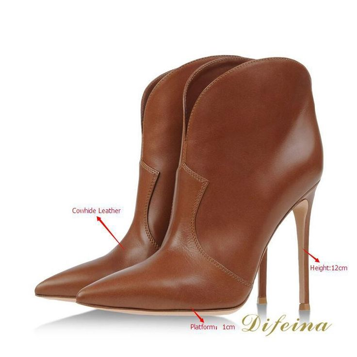 137.21$  Watch more here  - Fashion Genuine Leather Women Boots 2014 Pointed Toe Autumn Boots Thin High Heels Shoes Woman Solid Soft Leather Women Boots