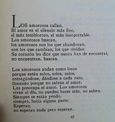Un poco de poesía, Mario Benedetti.
