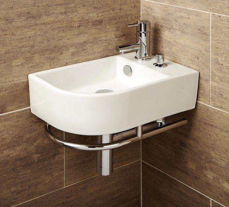 HIB Malo Temoli Cloakroom Corner Wash Basin With Towel Rail X This Is A  Fresh Temoli Bathroom Basin With Towel Rail From HIB It Is A Part 85