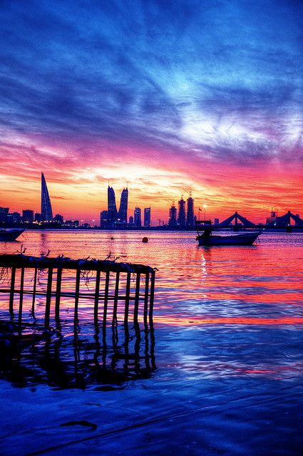 Manama sunset , Bahrain  http://www.hotel-booking-in.com/bahrain-hotels.html