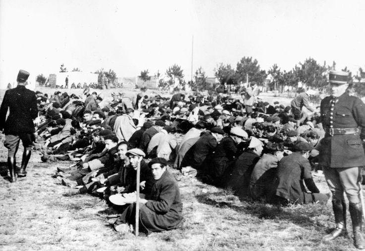 Réfugiés espagnols, Argelès sur Mer, 1939