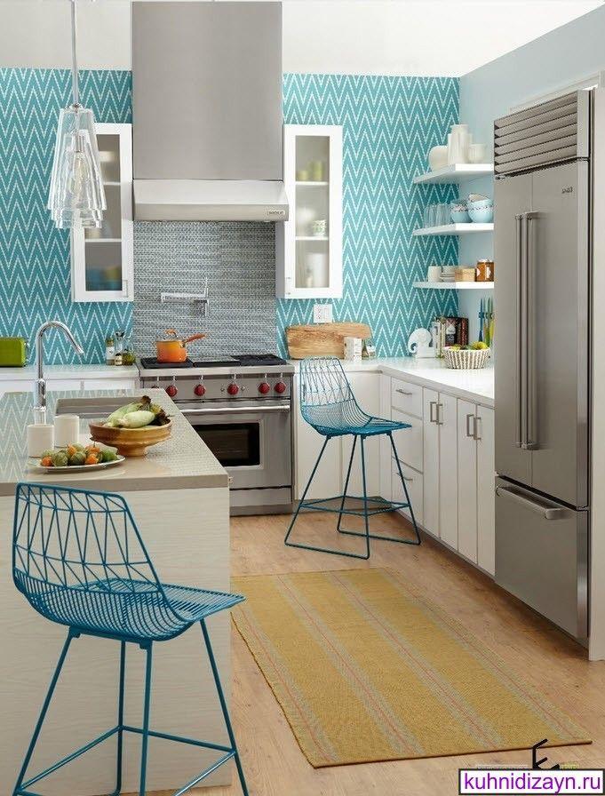 бирюзовая кухня, бирюзовая кухня фото, кухня в бирюзовом цвете, бело бирюзовая кухня