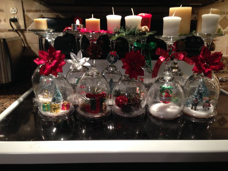 Wine Glass Snow Globes - Sheridan