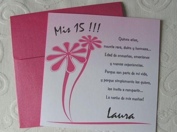 Frases Para Quincenera: Invitaciones Para Cumpleaños De 15