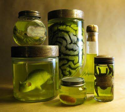 Halloween decorating, Specimen jars.