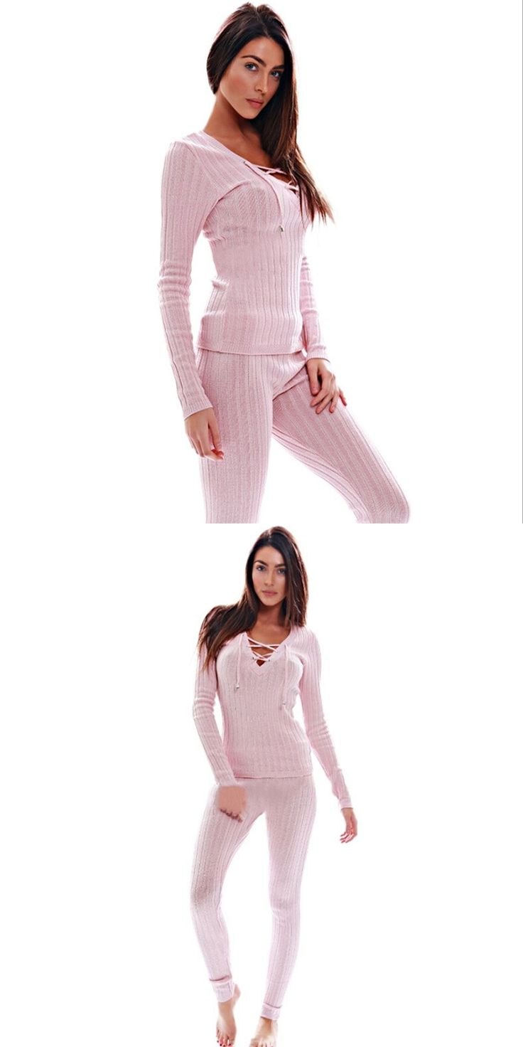 2017 Spring Pink Casual Two Piece Outfits For Women Jumpsuits Rompers Ribbons Knitted Macacao Feminino Pants Suit Mono Mujer