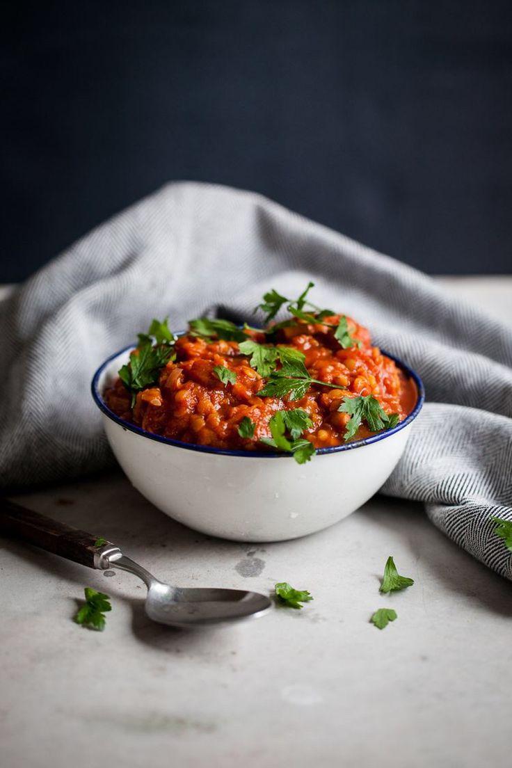 Vegetarisk pastasås med linser och morötter