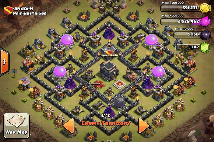 clash of clans war base th8 anti everything