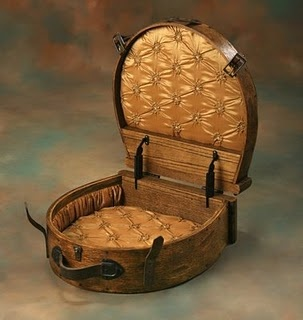 Early Wallpaper Hat Box / 1795-1824. I would love to have one of these in my dream closet, holding a gorgeous Kentucky Derby hat. :)