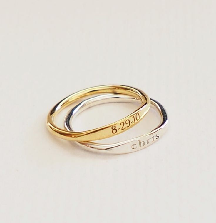 Personalized Rings on Etsy #engraved