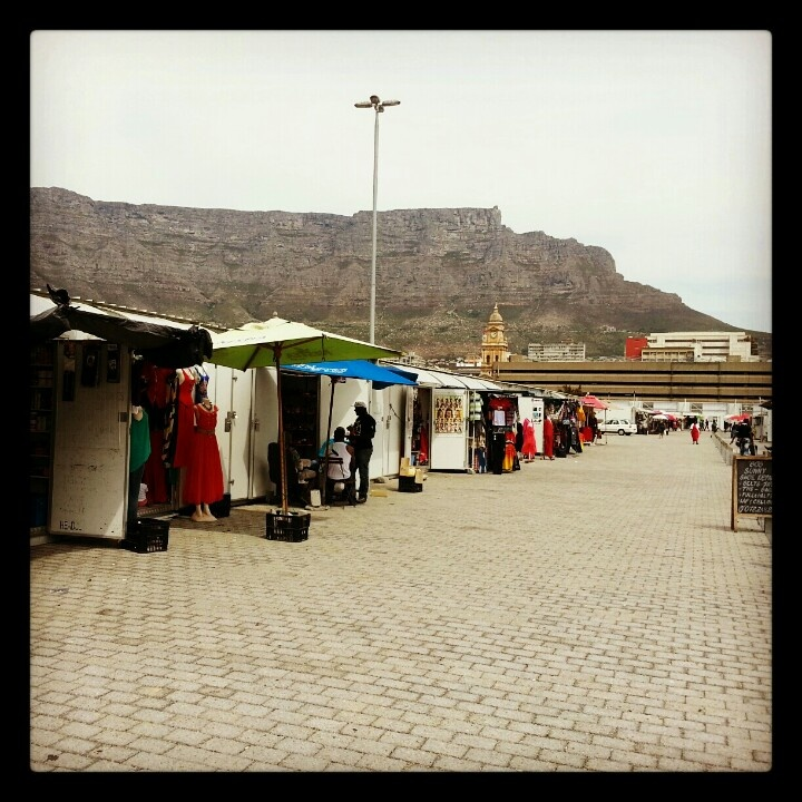 Rooftop market in the Cape Town CBD.  Access from Golden Walk shopping centre.