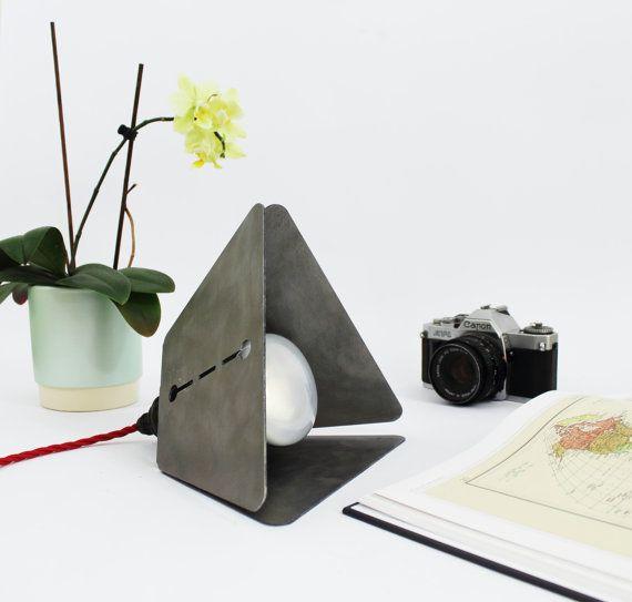 Industrial steel lamp by RoKDesignStudio on Etsy