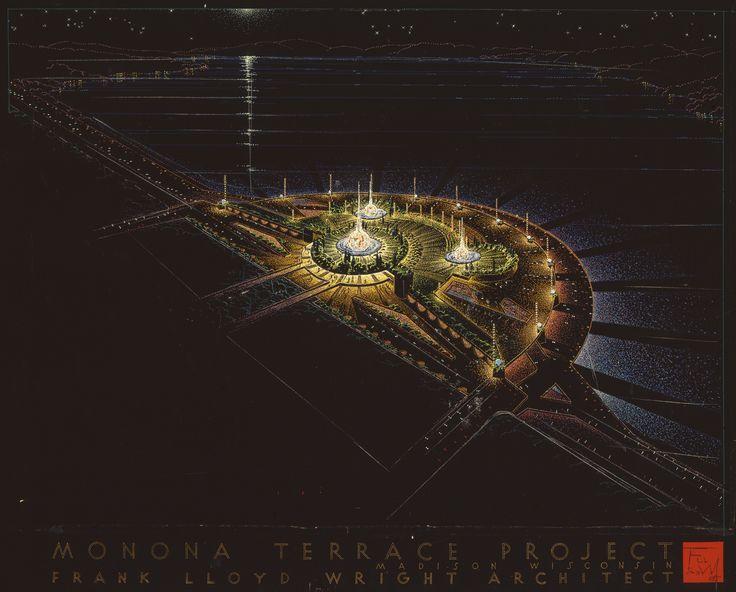 Monona Terrace Civic Center. Madison, WI by Frank Lloyd Wright