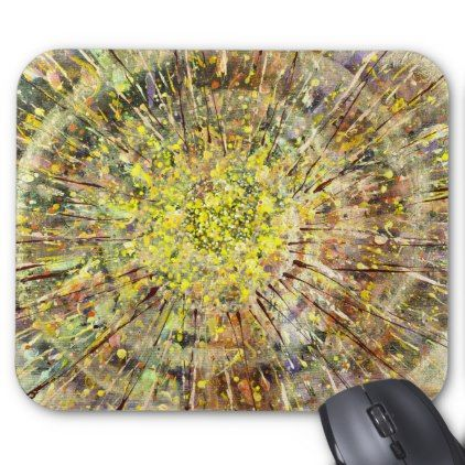 Spin Artwork Spatter Creative Computer Mouse Pad - artists unique special customize presents