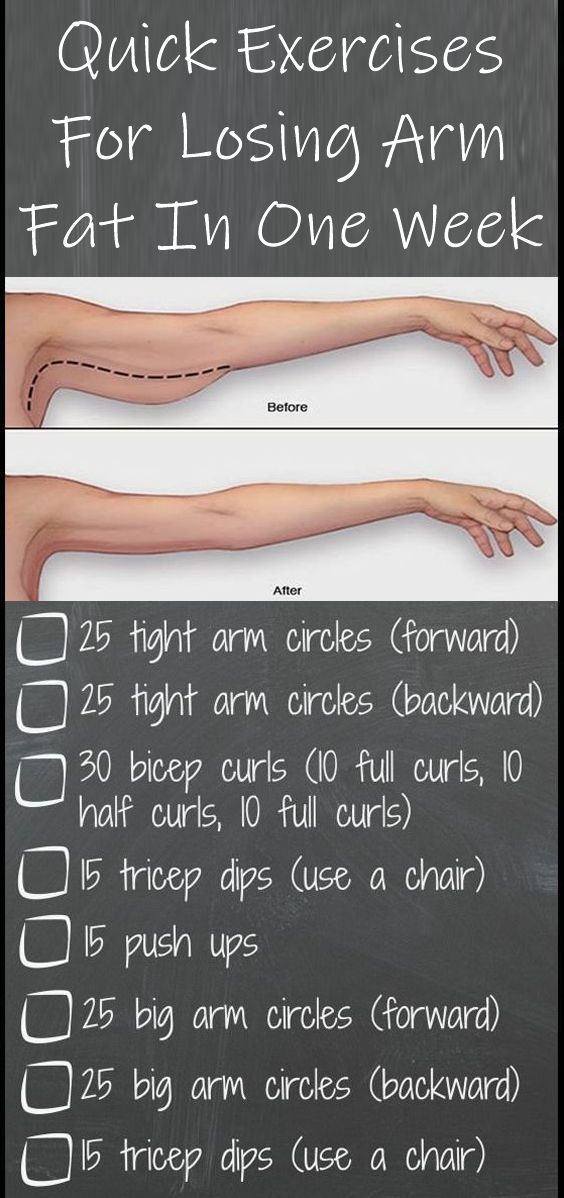 8 times per day quick exercises for losing arm fat in one week rh pinterest com