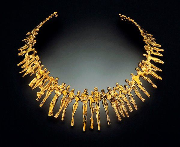 Art Jewelry Nisa. Necklace in 18KT gold