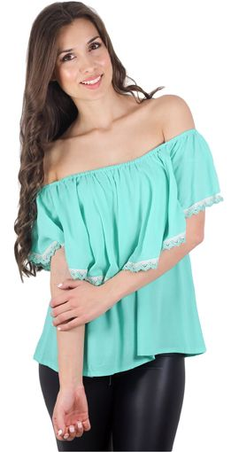 MINT TO BE! Mint Top With Crochet Trim  -  Must have for Summer 2015! see at www.savedbythedress.com #fashion #summertrends #minttop