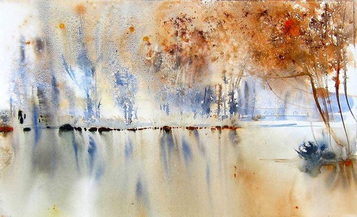 法國水彩女畫家:Reine Marie Pinchon 對水和靈魂的詮釋 (第二輯) 。。。 - milk  - ☆ Milk ☆ 平平。淡淡。也是真。