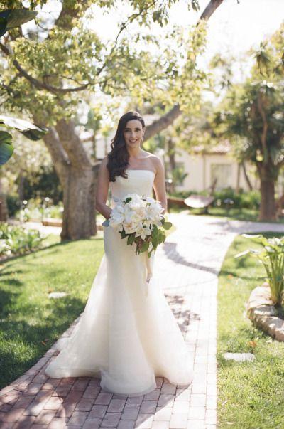 Beautiful Vera Wang clad bride: http://www.stylemepretty.com/california-weddings/santa-barbara/2015/01/09/elegant-santa-barbara-spring-wedding/ | Photography: Gia Canali - http://www.giacanali.com/
