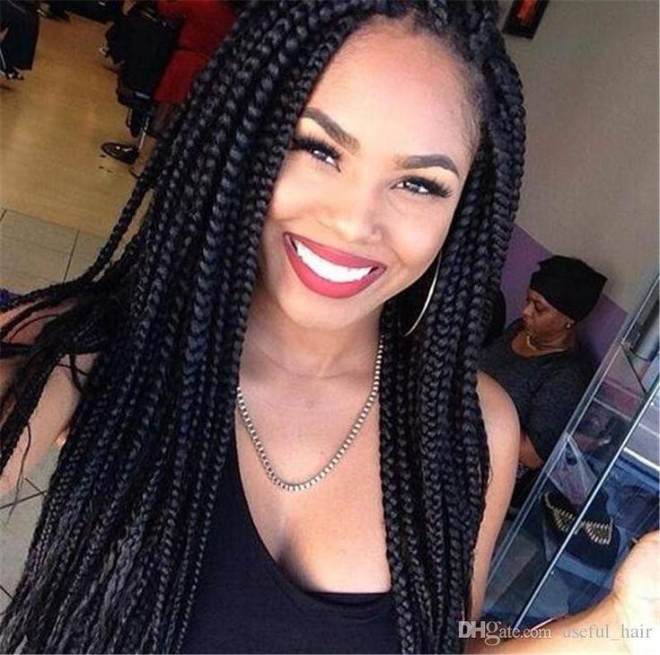 Brazilian Hair Wigs Braided Lace Front Wigs Boleto Way 22 Black Synthetic 3x Box Braids Crochet Braids Black Synthetic Wigs For Black Women Cheap Wigs For Sale Wigs For Black Hair From Useful_hair, $50.26  Dhgate.Com