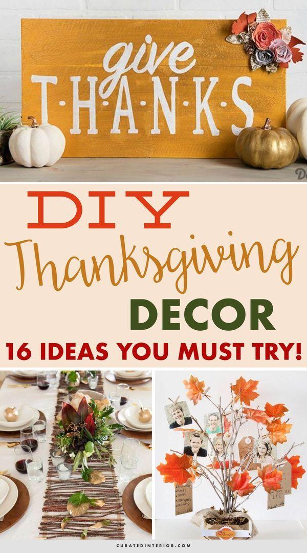 16 creative diy thanksgiving decor ideas holidays food decor rh pinterest com
