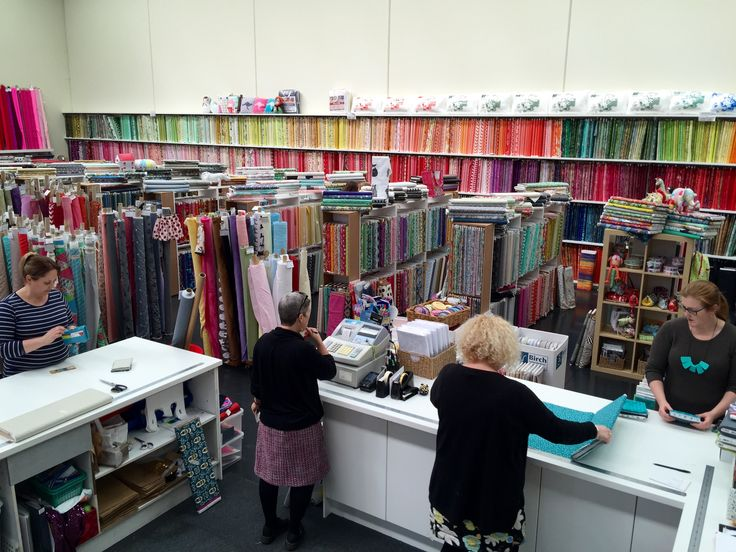 Diary of a sewing day at GJs Discount Fabrics