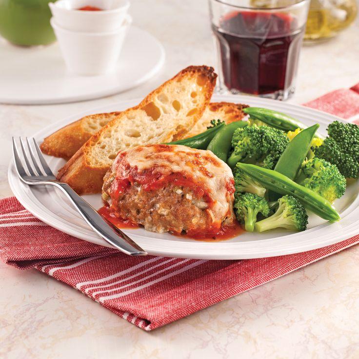 Mini-pains de viande parmigiana - Recettes - Cuisine et nutrition - Pratico…