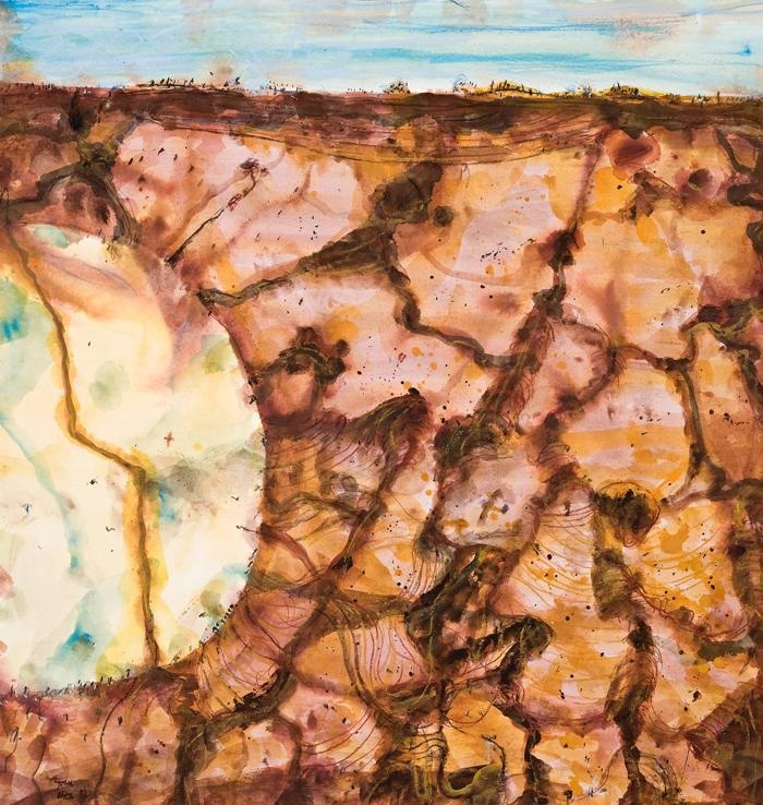 John Olsen - Desert Lake, Kimberley (1997)