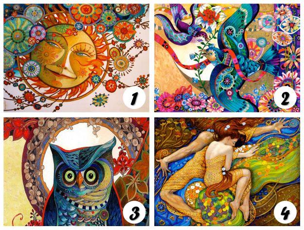 Mira las 4 cartas de color y permítele a tu intuición que elija su carta favorita. Por favor no elijas por elegir, escoge la carta que ...