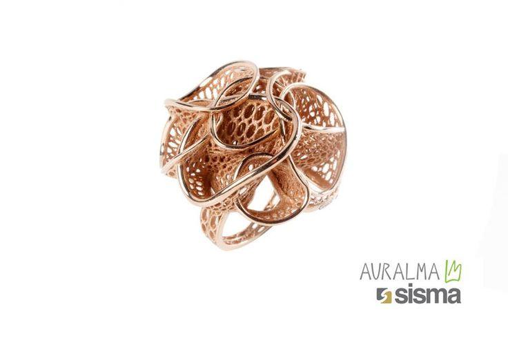 Anemone, anello realizzato con tecnologia Laser Metal Fusion in oro, disegnato da Auralma Design in esclusiva per SISMA S.p.A. http://www.auralma.com/vicenzaoro-t-gold-2015/