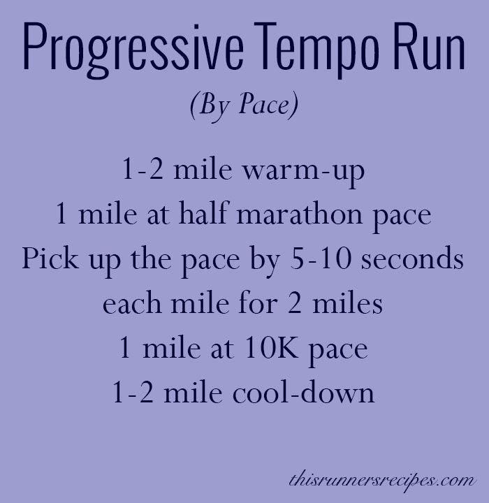 Progressive Tempo Run Workout