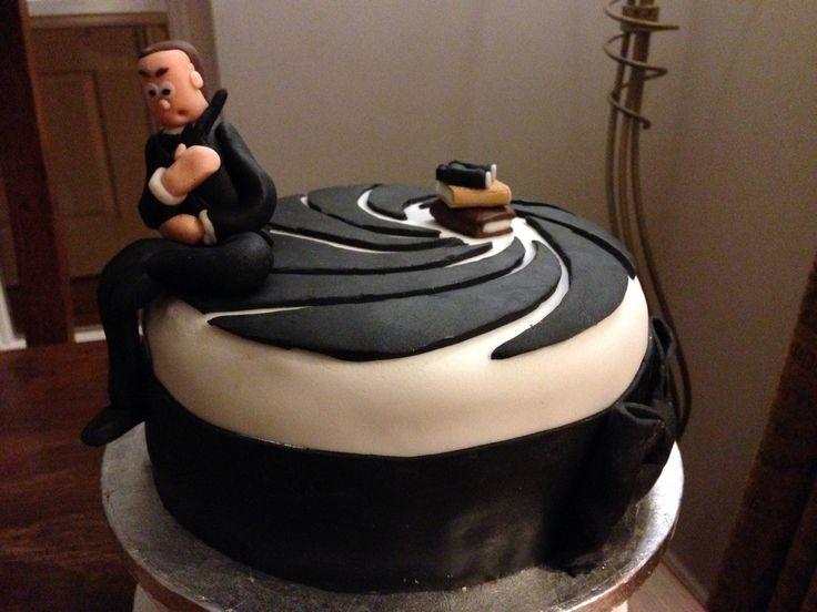 James Bond (007) birthday/Uni cake (chocolate fudge)
