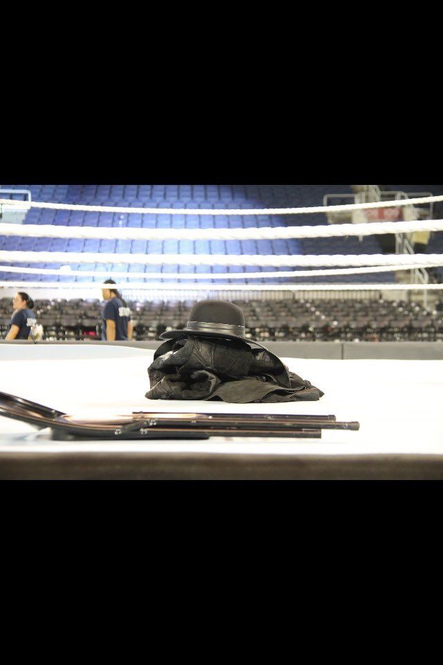 WrestleMania 33- The Undertaker Retires & Leaves Gear In Ring.