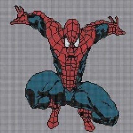 Spiderman Blanket Knitting Pattern : SPIDERMAN FULL BODY CROCHET PATTERN AFGHAN GRAPH FOR CROSS STITCH AND KNITTIN...