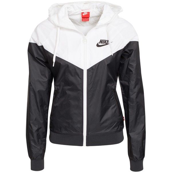 Nike Windrunner ($98) ❤ liked on Polyvore featuring outerwear, jackets, nike, shirts, activewear, womens-fashion, tall jackets, slim jacket, slim fit jacket and zipper jacket