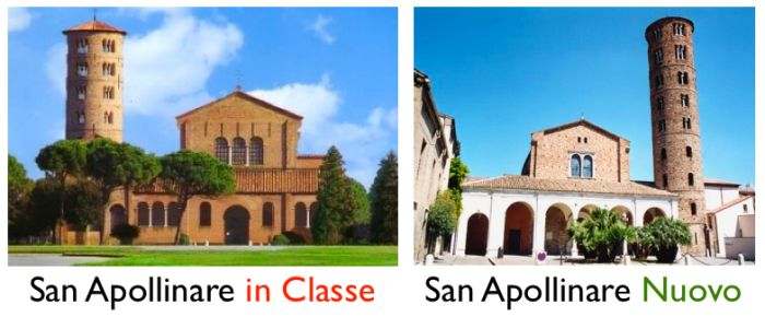 różnica między San Apollinare in Classe i Nuovo