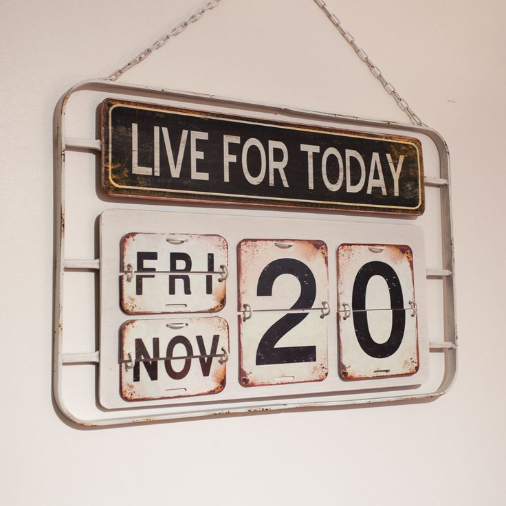 Live For Today Vintage Wall Calendar