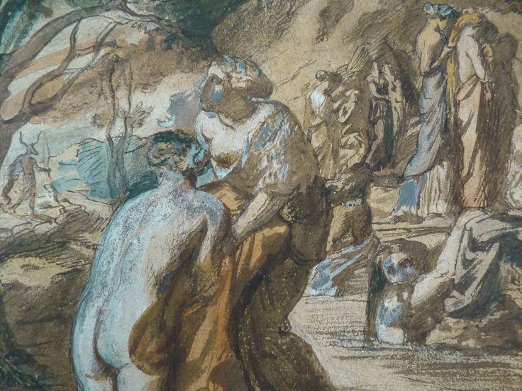 CHASSERIAU Théodore,1840 - Diane et Actéon, Etude - Détail 02