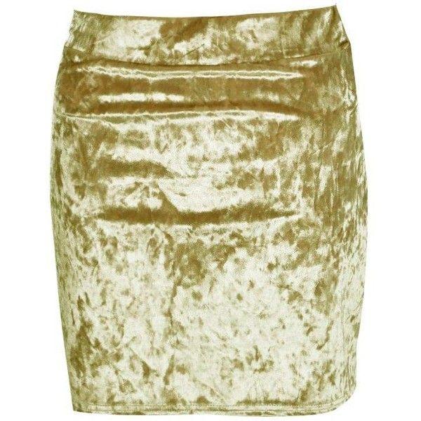 Boohoo Sierra Crushed Velvet Mini Skirt ($11) ❤ liked on Polyvore featuring skirts, mini skirts, elastic waist skirt, short maxi skirt, short skirts, circle skirt and mini circle skirt